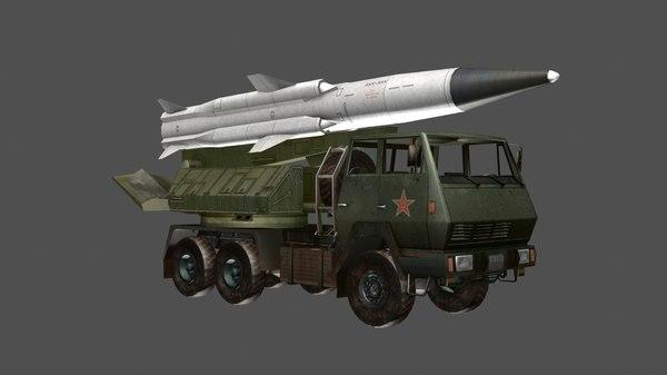 3D sx2190 missile launcher heavy truck