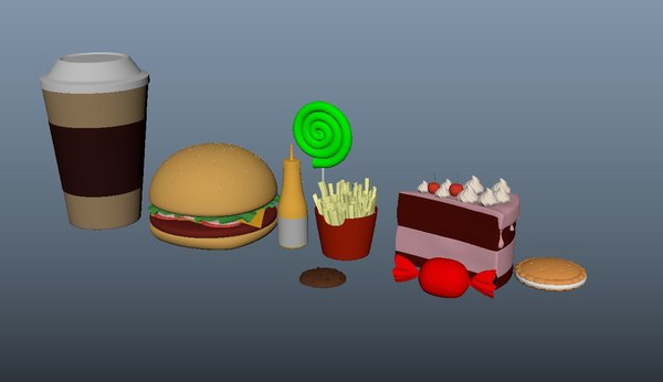 food burger french 3D