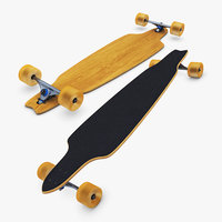 generic longboard 1 3D
