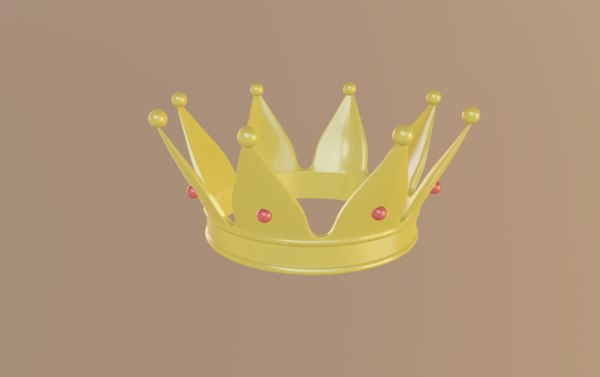 3D yellow crown