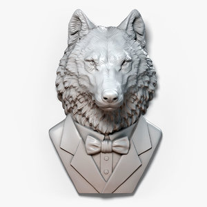 3D model wolf gentleman fantasy character