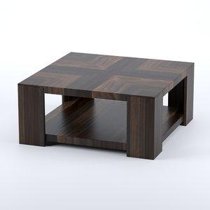 3D grain square table hooker model