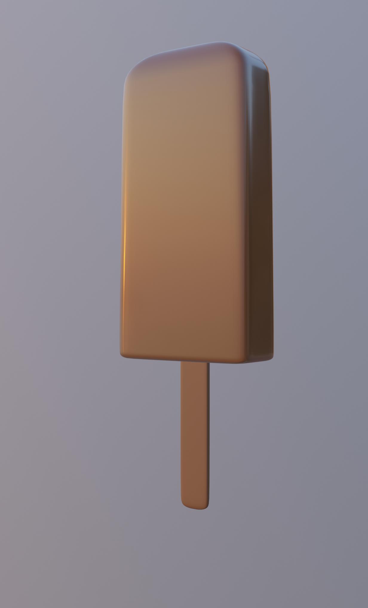 cream stick 3D model
