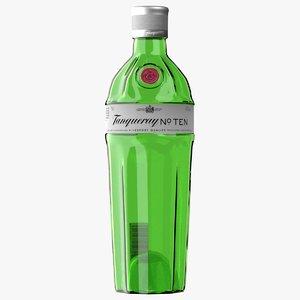 realistic n10 gin bottle 3D model