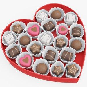 3D box valentines model