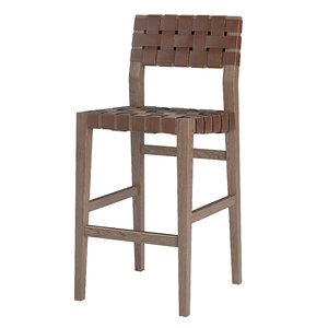 3D model vero leather barstool