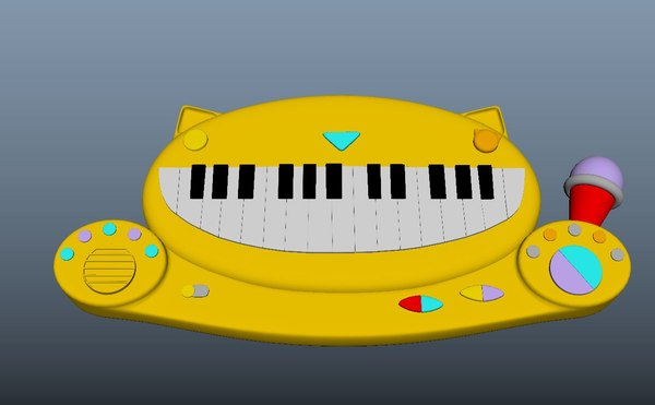musical toy piano 3D