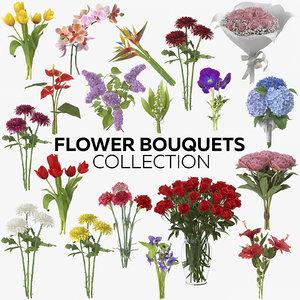 3D flower bouquets