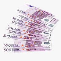 3D paper banknotes euro 500