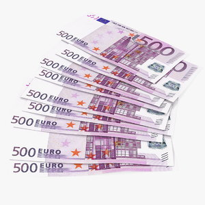 3D paper banknotes euro 500