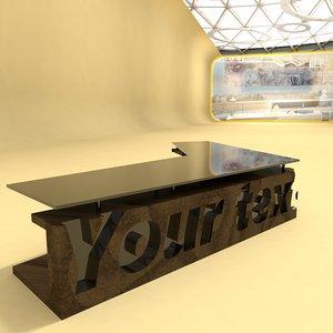 3D design home office 0010 model