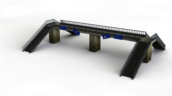3D footbridge foot model
