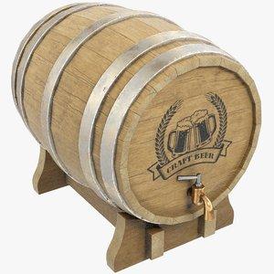 3D barrel bar model