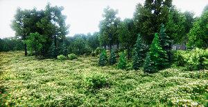 realistic vegetation pack 3D