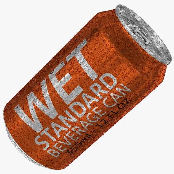 wet standard 355ml 12oz 3D model