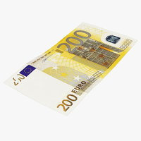 3D 200 euro banknote model