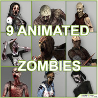3d zombie animation characters