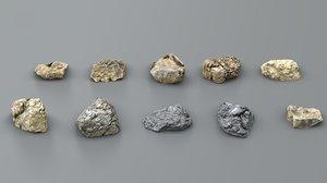 3D realistic pack rocks -