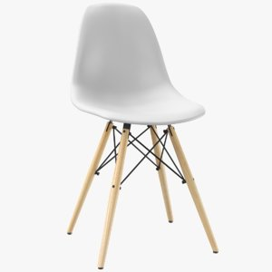real modern chair seat 3D model