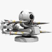 3D missile rapier model