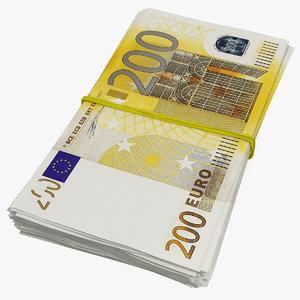 200 euro banknotes bills model