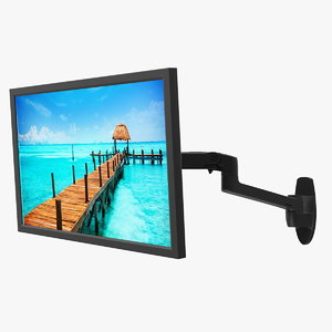 3D model mount monitor arm generic