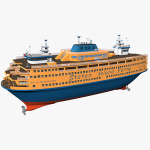 3D model staten island ferry new york
