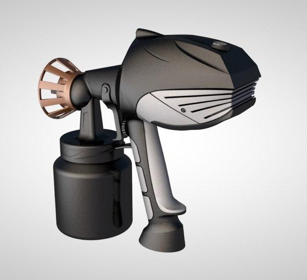 3D paint spray sprayer