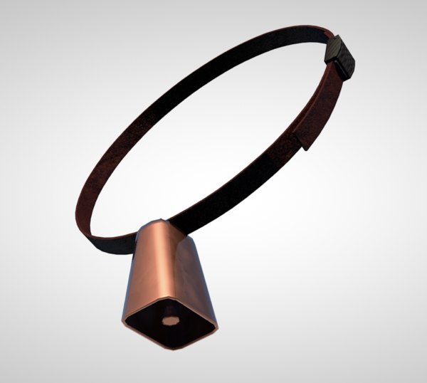 3D cowbell cow bell percussion model
