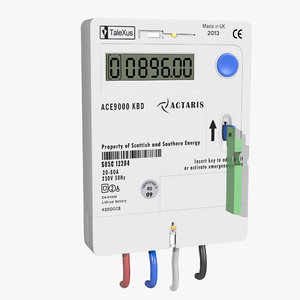 electricity key meter 3D