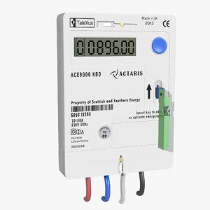 electricity key meter 3D
