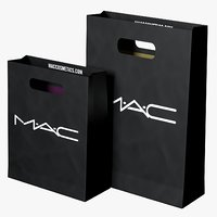 mac cosmetics shopping bags 3D model