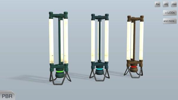 metalness lamps model
