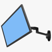 Ergotron LX Wall Mount Monitor Arm Rigged