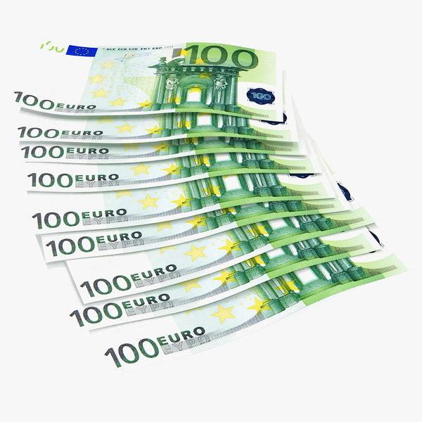 paper banknotes euro 100 model