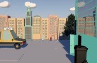 3D cartoon house city model