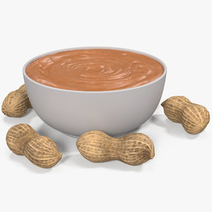 3D peanut butter plate 2 model