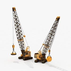 crawler cranes 3D model
