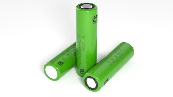 3D battery 18650 model