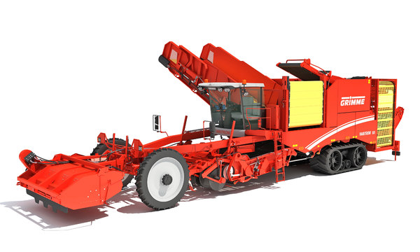 grimme potato harvester 3D model