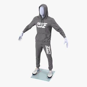 nike anthrazit sportswear suit 3D