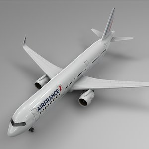 3D model airbus a321 neo air france