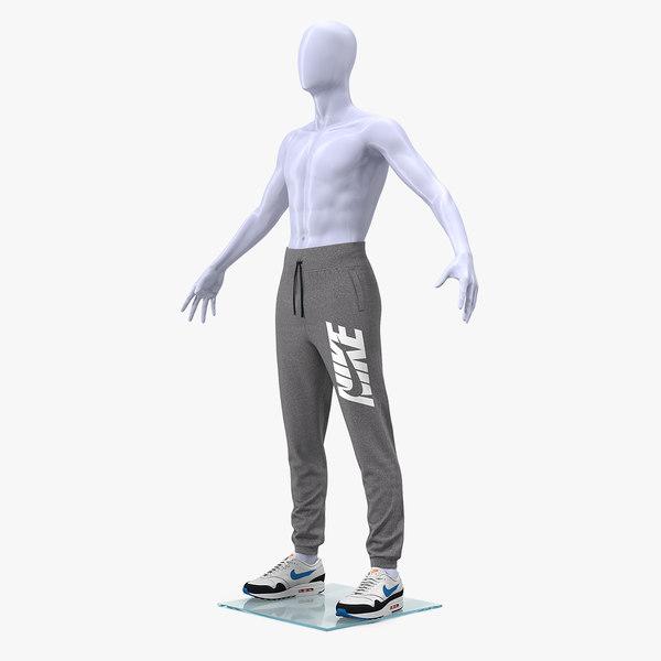 3D grey nike joggers sneakers