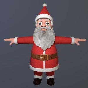 3D model santa claus toon