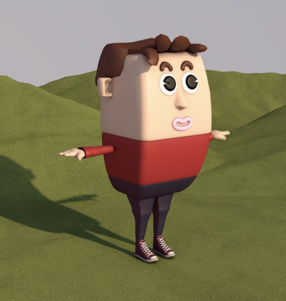 3D cartoon man male animation character