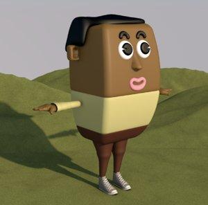 3D cartoon man male animation character