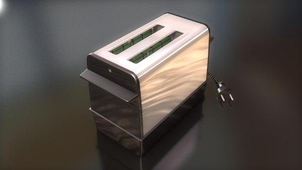 3D model retro eletric toaster