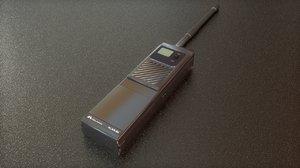 3D walkie talkie radio model