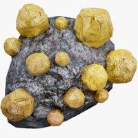 realistic crystal ore 3D model