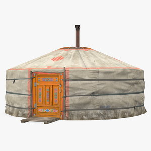 mongolian portable yurt mongolia 3D model